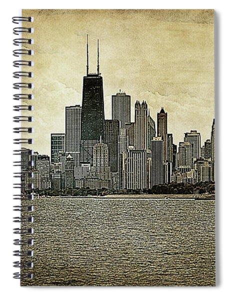 Chicago On Canvas Spiral Notebook