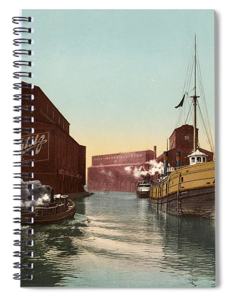 Chicago River, C1900 Spiral Notebook