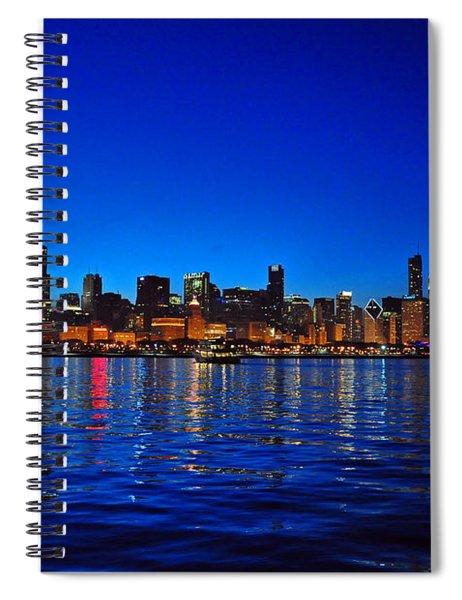 Chicago Skyline At Dusk Spiral Notebook