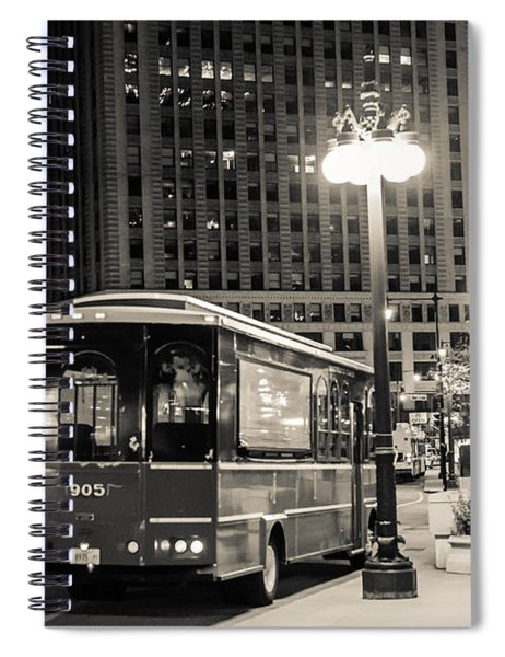Chicago Trolly Stop Spiral Notebook