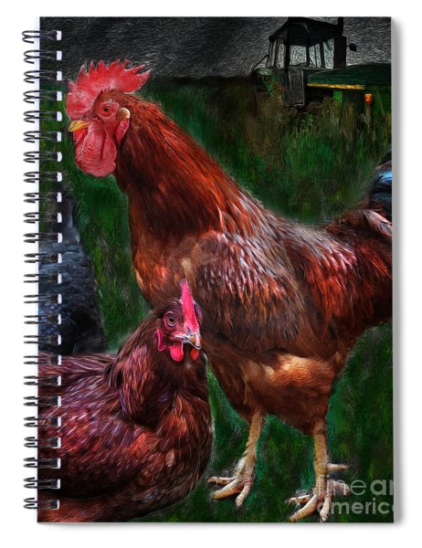 Chickens Spiral Notebook