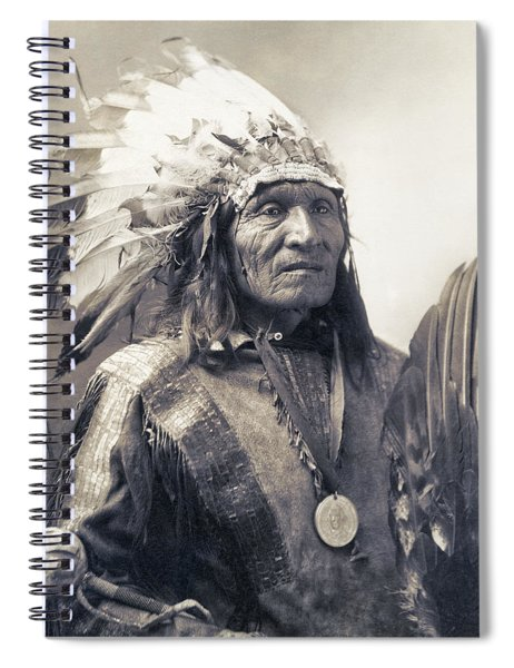 Chief He Dog Of The Sioux Nation  C. 1900 Spiral Notebook