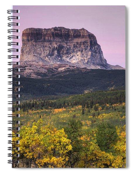 Chief Mountain Sunrise Spiral Notebook
