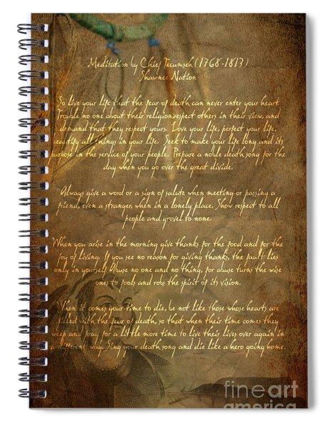 Chief Tecumseh Poem Spiral Notebook