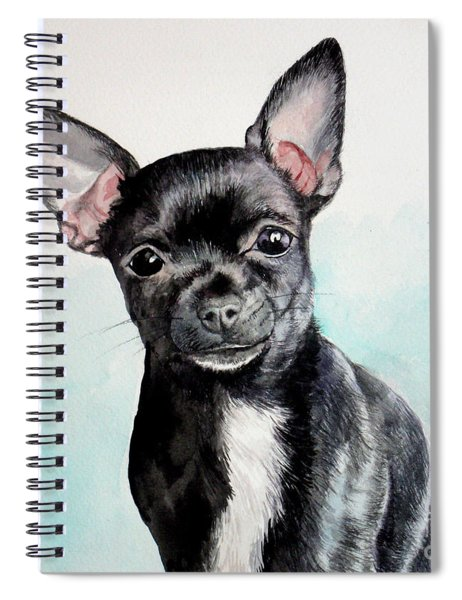 Chihuahua Black Spiral Notebook
