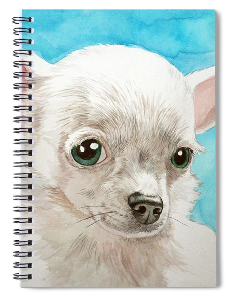 Chihuahua Dog White Spiral Notebook