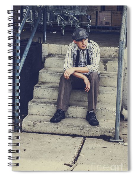 Chilled Out Retro Fashion Model  Spiral Notebook