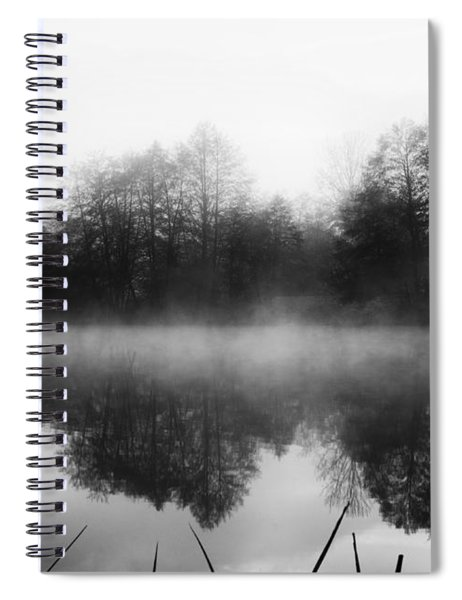 Chilly Morning Reflections Spiral Notebook