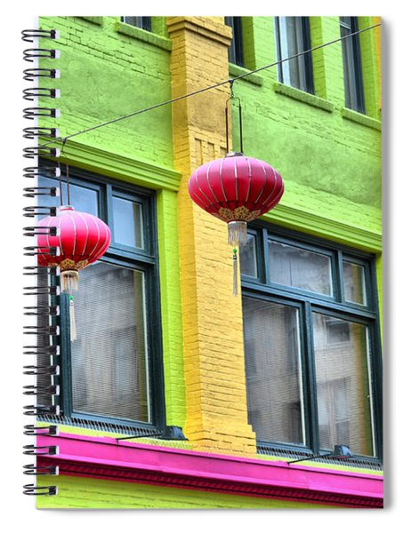 Chinatown Colors Spiral Notebook