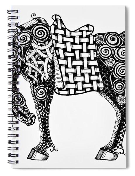 Chinese Horse - Zentangle Spiral Notebook