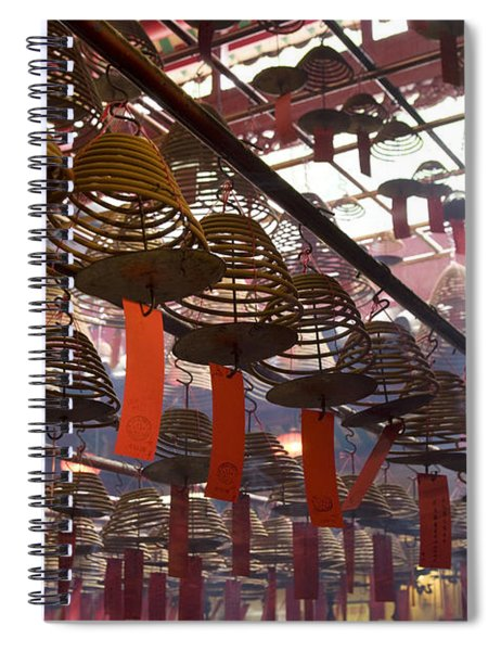 Chinese Red Lantern, Quarry Bay Market Spiral Notebook