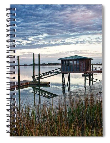 Chisolm Island Docks Spiral Notebook
