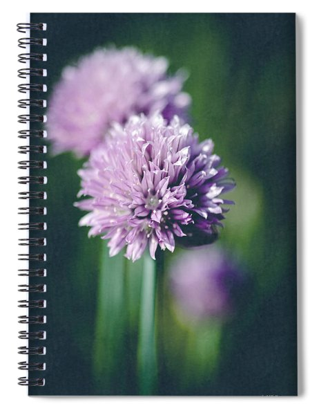 Chives At Attention Spiral Notebook