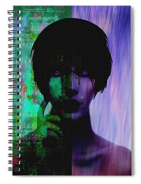 Choices-featured On Visions Of The Night Group Spiral Notebook