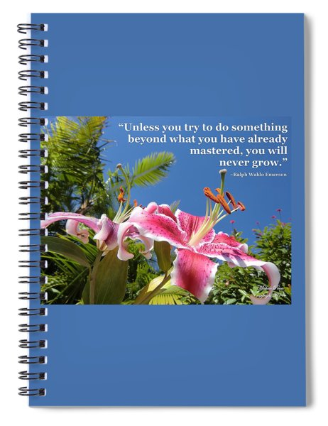 Choose Your Quote Choose Your Picture 18 Spiral Notebook