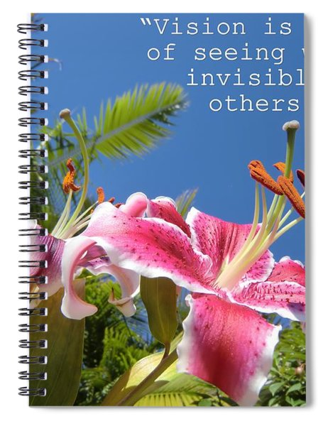 Choose Your Quote Choose Your Picture 19 Spiral Notebook