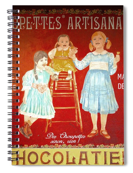 Choupettes Artisanales Store Sign Spiral Notebook