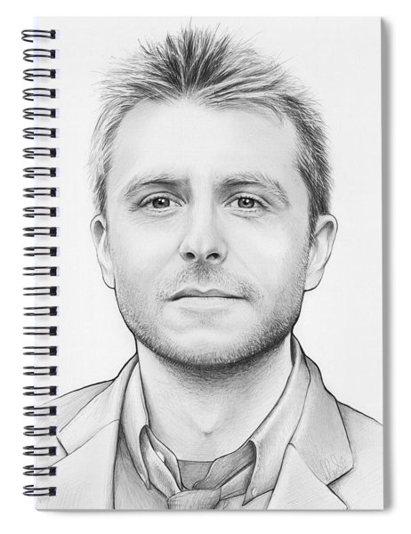 Chris Hardwick Spiral Notebook by Olga Shvartsur