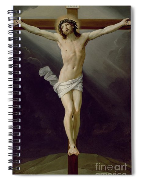 Christ On The Cross Spiral Notebook