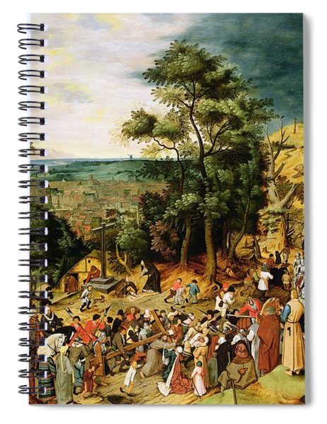 Christ On The Road To Calvary, 1607 Panel Spiral Notebook