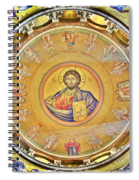 Christ Pantocrator -- Church Of The Holy Sepulchre Spiral Notebook