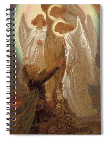 Christian At The Foot Of The Cross Spiral Notebook