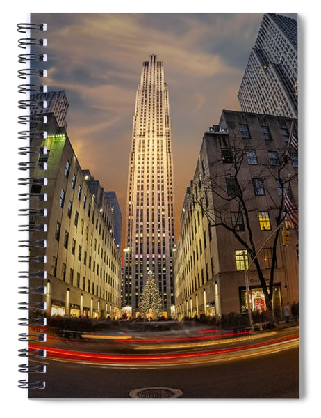 Christmas At Rockefeller Center Spiral Notebook