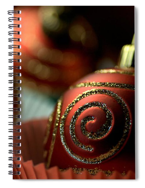 Christmas Bauble Cupcakes Spiral Notebook