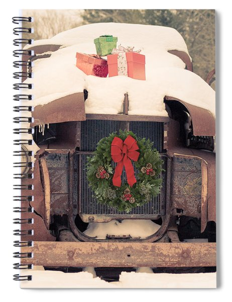 Christmas Car Card Spiral Notebook