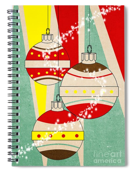 Christmas Card 6 Spiral Notebook