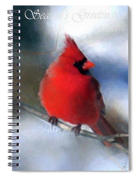 Christmas Card - Cardinal Spiral Notebook