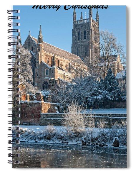 Christmas Card Church Spiral Notebook