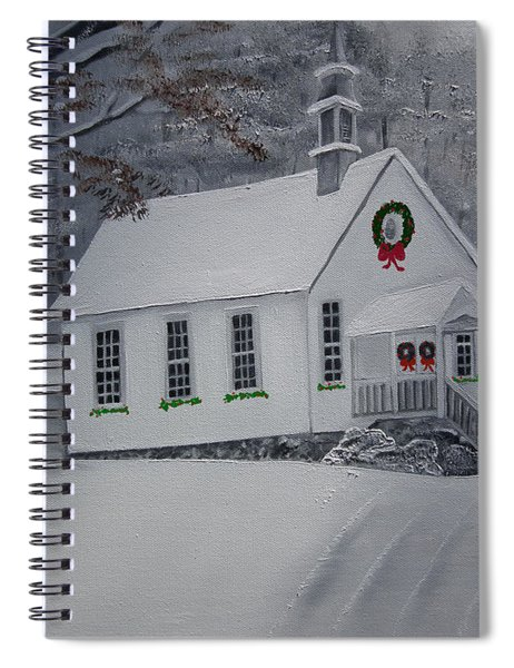 Christmas Card - Snow - Gates Chapel Spiral Notebook