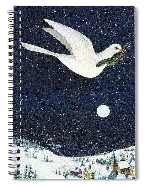 Christmas Dove Spiral Notebook