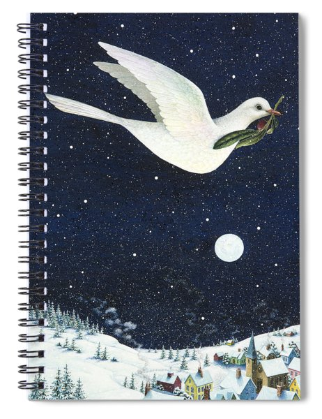 Christmas Dove Spiral Notebook