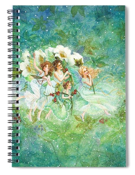 Christmas Fairies Spiral Notebook