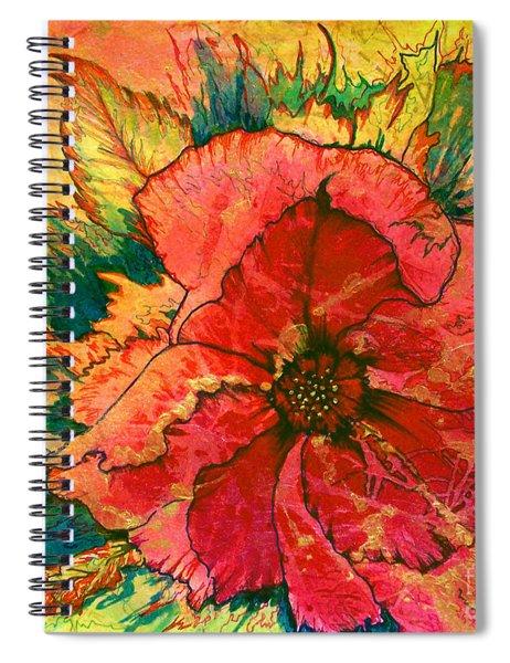 Christmas Flower Spiral Notebook