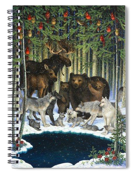 Christmas Gathering Spiral Notebook