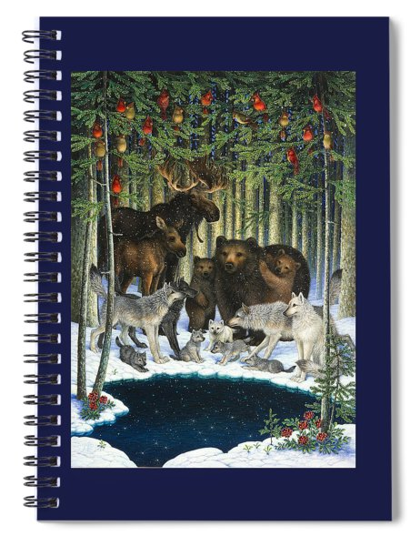 Christmas Gathering Spiral Notebook