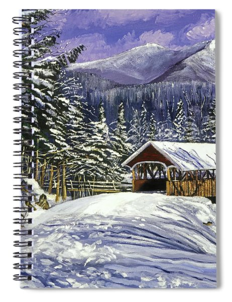 Christmas In New England Spiral Notebook