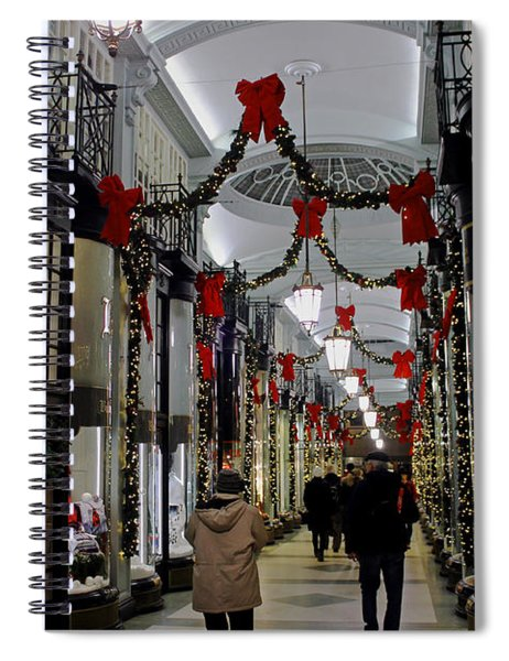 Christmas In Piccadilly Arcade Spiral Notebook