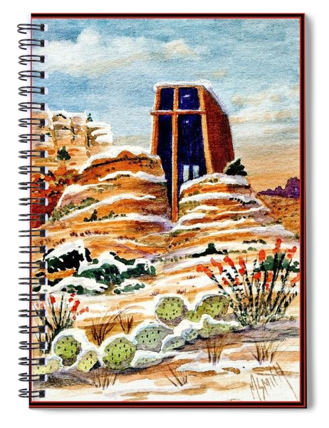 Christmas In Sedona Spiral Notebook