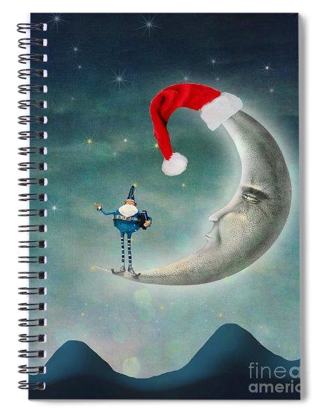 Christmas Moon Spiral Notebook