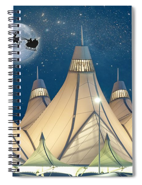 Christmas Night At Denver International Airport Spiral Notebook