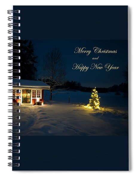 Christmas Night  Merry Christmas And Happy New Year Spiral Notebook