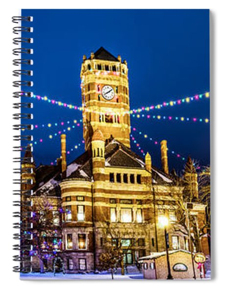 Christmas On The Square Spiral Notebook