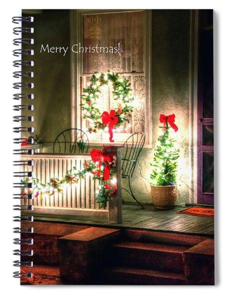 Christmas Porch Spiral Notebook