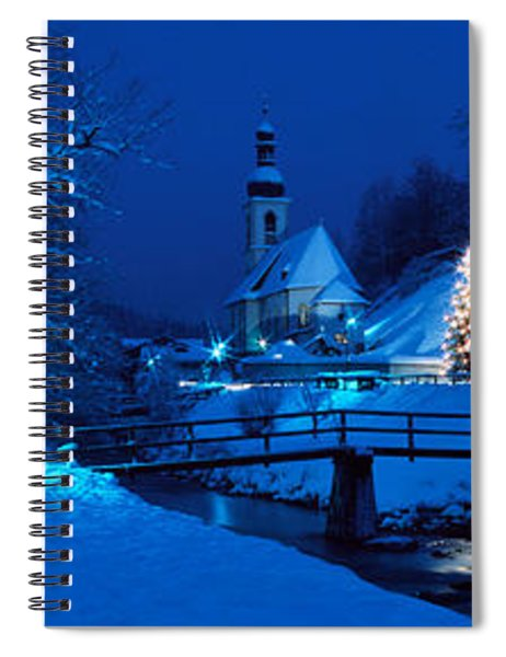 Christmas Ramsau Germany Spiral Notebook