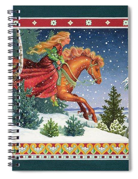 Christmas Ride Spiral Notebook