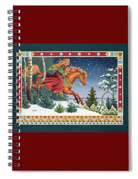 Christmas Ride Spiral Notebook